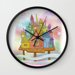 Live In The Sky Wall Clock