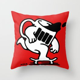 Black coffee Throw Pillow