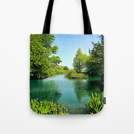 Aqua Lake Tote Bag