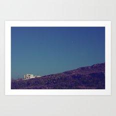 House on a Hill II Art Print