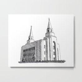 Kansas City LDS Temple Metal Print