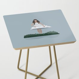 Cloud and woman Side Table