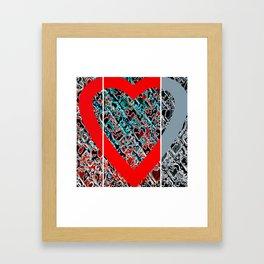 heart a plenty times 3 Framed Art Print