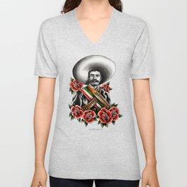 Emiliano Zapata Portrait Unisex V-Neck