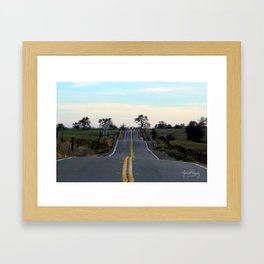 The road best traveled Framed Art Print