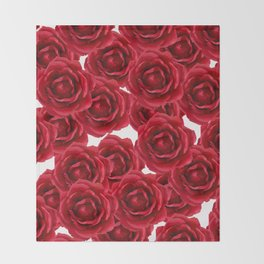 ROSES ROSES RED RED ROSES Throw Blanket