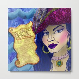 Bluebeard's Daughter  Metal Print