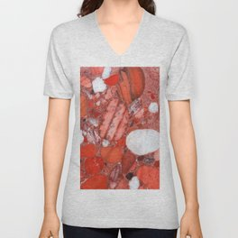 Conglomerate marble pebbles Unisex V-Neck