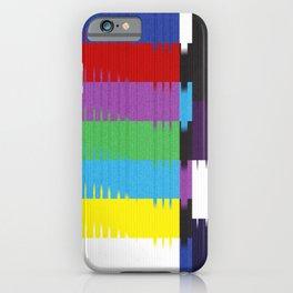 color tv bar#glitch#effect iPhone Case