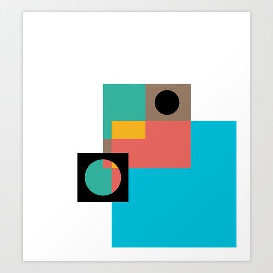 Geometric Crazy 1 Art Print