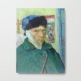 Vincent van Gogh - Self-Portrait with Bandaged Ear Metal Print