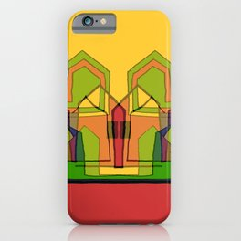 Two Suns Above the Village iPhone Case