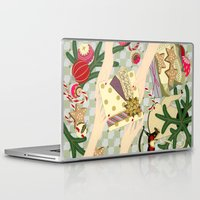 gift card Laptop & iPad Skins featuring Merry Christmas gift by Yuliya