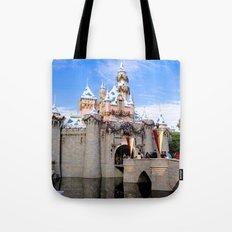 Sleeping Beauty's Holiday Castle Tote Bag