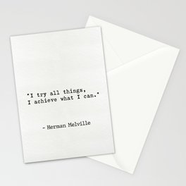 Herman Melville quote 3 Stationery Cards