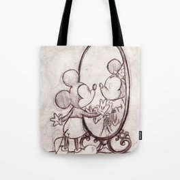 Mouse in the Mirror Tote Bag