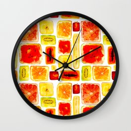 Juicy cubism Wall Clock
