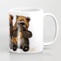 ewok Mugs featuring STAR WARS The Three Wise Ewoks by Tom Brodie-Browne
