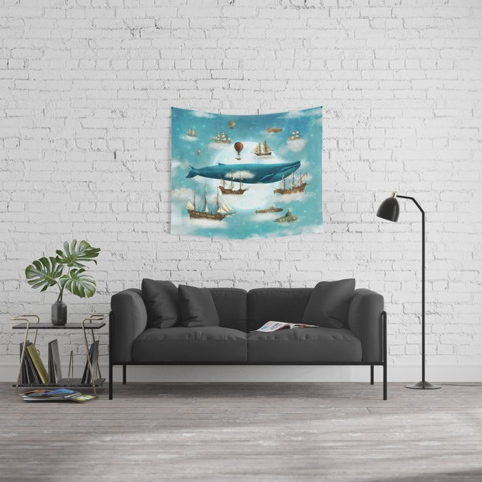 Ocean Meets Sky - revised Wall Tapestry