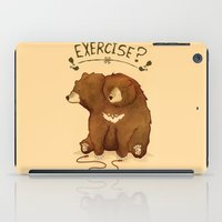 fitness iPad Cases featuring Fitness Bear by sociopteryx