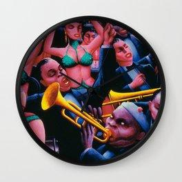 That Hot Jazz Rhythm by Archibald Motley Wall Clock