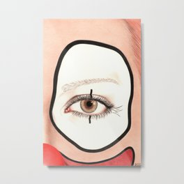 Not all Clowns are Scary Metal Print
