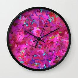 Fuchsia Forest Wall Clock