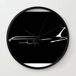 Minimalist KC-135 Stratotanker Black Wall Clock