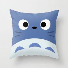 Blue Troll Throw Pillow