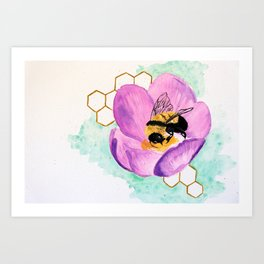 Bowing Beefore the Queen Art Print