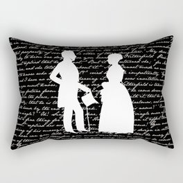 Pride and Prejudice design Rectangular Pillow