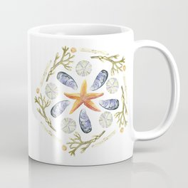 Tide Pool Beach Mandala 3 - Watercolor Coffee Mug