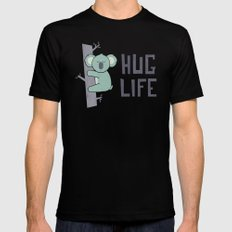 Hug Life Mens Fitted Tee LARGE Black