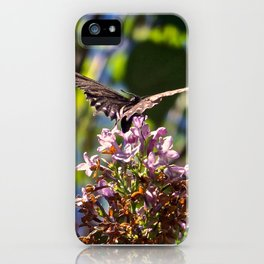 Butterfly on Lilacs iPhone Case
