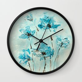 Flowers (in acrylic paint) Wall Clock