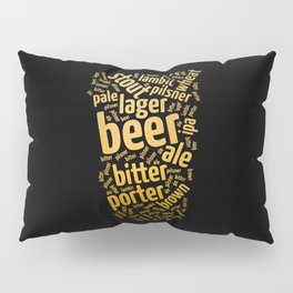 Beer Glass Word Pillow Sham