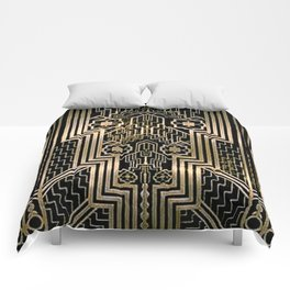 Art Nouveau Metallic design Comforters