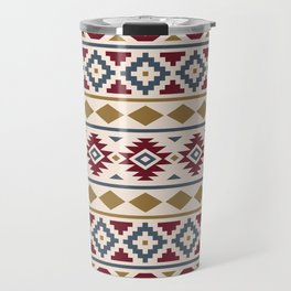 Aztec Essence Ptn III Red Blue Gold Cream Travel Mug