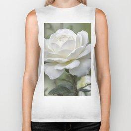 white rose in the garden Biker Tank