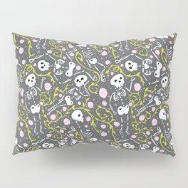 Skeletons in Spring - abbey grey - white  Pillow Sham