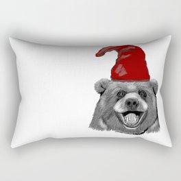 Happy Christmas Bear Rectangular Pillow