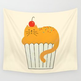 Cup-Cat Wall Tapestry