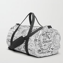 Drinks Full Tag Cloud Duffle Bag