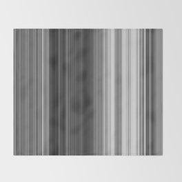 Black White Gray Thin Stripes Throw Blanket