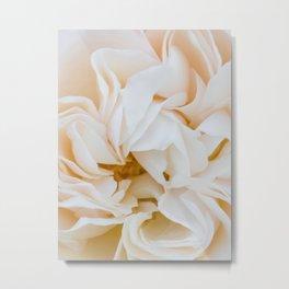 Center of a Pink Rose - Nature Photography Metal Print