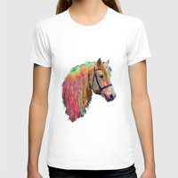 pony T-shirts featuring Rainbow Pony. by HelenMacNee