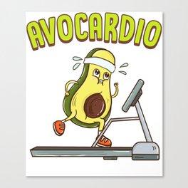 Avocardio Avocado Cardio Pun Running Exercise Gym Canvas Print