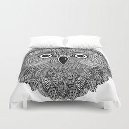 Ornate Owl Zentangle Duvet Cover