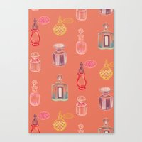 perfume Canvas Prints featuring Perfume by Pim-Pimlada Studio