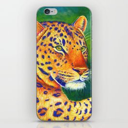 Colorful Leopard Big Cat Wild Cat iPhone Skin